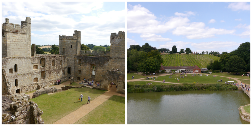 view from the top bodium castle